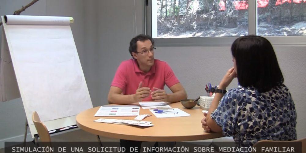 Simulación entrevista informativa mediación